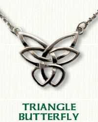 butterfly Pendant in 14kt white gold