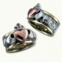 Custom Claddagh Band