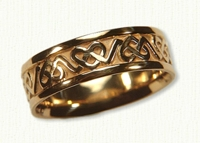 14kt Yellow Celtic 3 Point Heart Knot Band