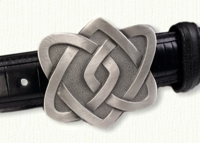 Celtic 4 Heart Knot Belt Buckle