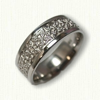 14kt White Gold Celtic Four Point Knot Band