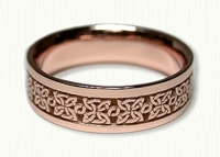 14Kt Rose Gold Celtic 4 Point Knot Wedding Band
