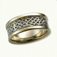14kt Two Tone Celtic Crynoch Band