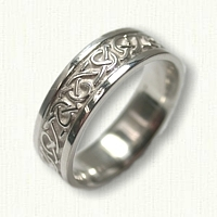 Sterling Silver Celtic Adare Knot Wedding Band