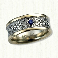 Adare Knot Band with  2.5mm  Bezel Set Sapphire