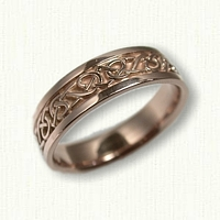14kt Rose Gold Adare Knot Band