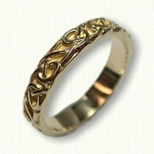 14kt Yellow Gold Adare Knot Wedding Band No Rails