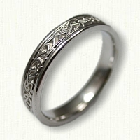 14kt White Gold Celtic Adare Knot Band
