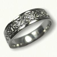 14kt White Gold Celtic Adare Knot Wedding Band
