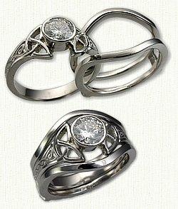 description - Irish Wedding Ring Sets