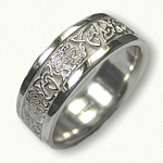 Celtic Cat & Triangle Knot Wedding Band