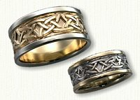Celtic Arches Wedding Band Set