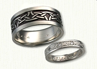 Celtic Arches Pattern  Band with Larger Rails