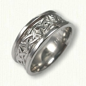 Celtic Arches Wedding Band w/Raised Rails
