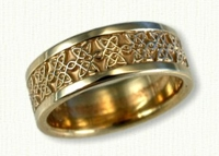 14Kt Yellow gold Celtic Avonmore Knot Wedding Band