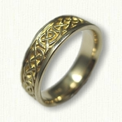 14kt Yellow Gold Celtic Ballyclare Knot Wedding Band