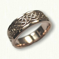 14kt Rose Gold Celtic Ballyclare Knot Wedding Band
