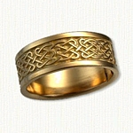 14kt yellow gold Celtic Barrow Knot Band
