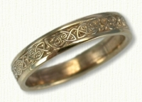 14kt yellow Narrow Celtic Berwick Knot wedding rings