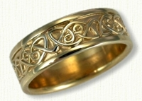 14kt yellow Celtic Berwick Knot wedding rings