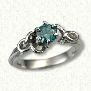 celtic bethany engagement rings platinum white gold