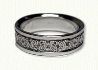 14kt white gold Celtic Butterfly Knot Wedding Band
