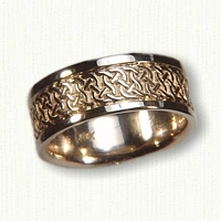 14kt Yellow Gold Celtic Castlebar Knot Band - 8.0 mm width