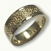 14kt Yellow Gold Castlebar Knot Wedding Band