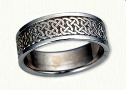 14kt white gold Celtic Castlebar Knot Band