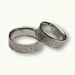 Platinum Celtic Castlebar Knot Wedding Set