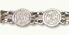 Sterling Celtic Animals Bracelet