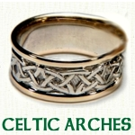 Celtic Arches Knot Wedding Rings
