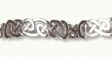 Sterling Heavy Lindesfarne Knot Bracelet