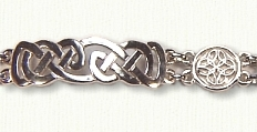 Sterling Celtic Lindesfarne with Triangle Knot  Bracelet