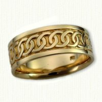 14Kt Yellow Celtic Link Knot Bands