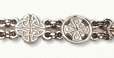 Sterling Celtic Love Knot and Cross Bracelet