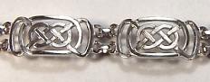 Sterling Celtic Murphy Knot  Bracelet