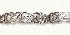 Sterling Narrow Lindesfarne Bracelet