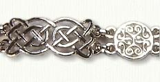 Sterling Celtic Tralee & Brentford Knot Bracelet