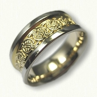 14kt Two Tone Gold Circle Knot Band