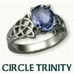 Circle Trinity Engagement Ring