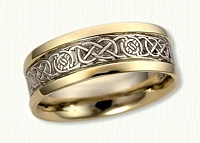 14kt Celtic Two Tone Cirle Murphy Knot Wedding Band