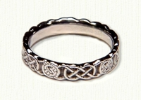 14kt white gold Sculpted Circle Murphy Knot Band