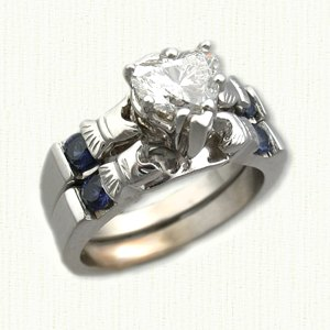 small claddaugh small claddaugh claddaugh wedding set - Claddagh Wedding Rings