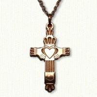Plain Straight Claddagh Cross - #CR115