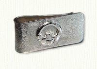 Sterling silver Claddagh money clip