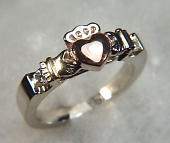 Custom tri-color Claddagh Ring