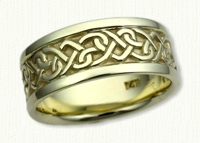 14kt green gold Celtic Continuous Heart Knot Wedding Band
