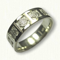 14kt Green Gold Celtic Enfield Knot Cross Wedding Band