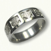 Sterling Silver Elsinore Cross Wedding Band